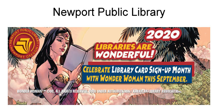 Newport Library Card Sign-up Month is September!