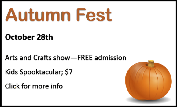 Autumn Fest at the Rec.Center - October 28th