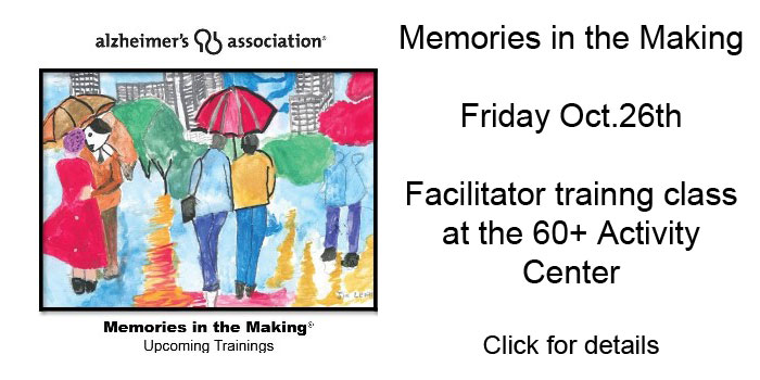 Memories in the Making - Class at the 60+ Activity Center