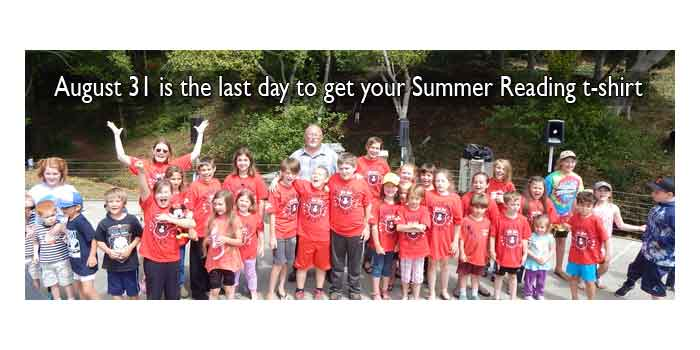 Summer Reading Last Day for a T-Shirt!